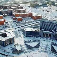 朝阳师专雪景