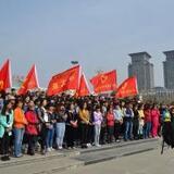 朝阳师专中文系大凌河环保千人徒步行活动