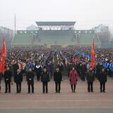 渤海大学升旗仪式